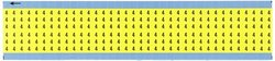 """Brady WM-4-YL-PK 1.5"""" Marker Length, B-500 Repositionable Vinyl Cloth, Matte Finish Black on Yellow Solid Numbers Wire Marker Card, Legend """"4"""" (Pack of 25 Card)"""