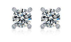 Swarovski Elements Crystal Stud Earring in 18K Gold Plated Brass