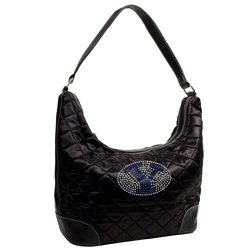 NCAA Brigham Young Cougars Sport Noir Quilted Hobo Purse, Black