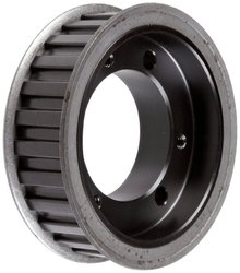 "Martin 26H100SDS HF-1 Type Timing Pulley, 1/2"" Pitch, 26 Grooves, Heavy, 3/4 and 1"" Wide Belts, SDS QD Bushing, Double Flange"