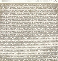 Authentique Paper Durable Double-Sided Cardstock 12 x 12-Inch, Instrumental Fuel Gauge Stripe/Gingham