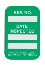 "Brady  MIC-MTIUSA G 1 7/8"" Height x 1 1/4"" Width, 1.875 inches   Vinyl, Green MICROTAG Date Inspected Inserts (100 Tags)"