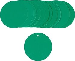 "Brady  56934 3"" Round, Green Green Color-Code Plasti-Tags (25 Tags)"