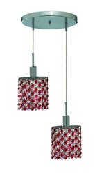 Elegant Lighting 1382D-R-E Mini 9 Inch Large Pendant