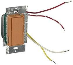 Lutron DVSCELV-303P-TC Diva 300-watt 3-Way Electronic Low-Voltage Dimmer, Terracotta