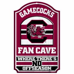 "NCAA South Carolina Fighting Gamecocks 11-by-17 ""Fan Cave"" Wood Sign"