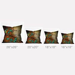 "DENY Designs 26"" x 26"" Iveta Abolina Rusty Lace Outdoor Throw Pillow"