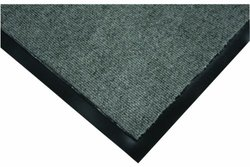 "Wearwell Polypropylene 290 Clean Zone Crushing and Abrasion Resistance Carpet Mat, for Dry Areas, 3' Width x 5' Length x 5/16"" Thickness, Medium Gray"
