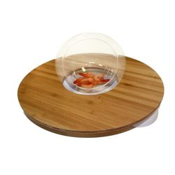 """Rosseto WP500 Bamboo Round Ring Surface with Acrylic Bowl Insert 20""""x3.8"""""""