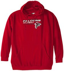 NFL Atlanta Falcons Screen Printed Pull Over Hood, Red, 4X-Large