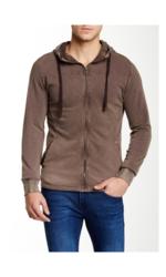 Jetlag Men's Pique Zip-Up Hoodie - Brown - Size: Medium