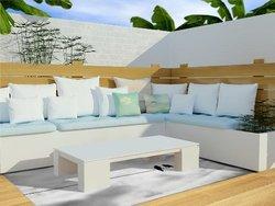 Debbra Obertanec Friendship Outdoor Floor Mat/Rug - Black/White - 4' x 5'