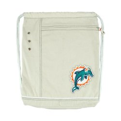 NFL Miami Dolphins Old School Cinch Backpack, Brown