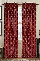 CREATIVE THREADS Venus Cardinal Silk Dupione, 108-Inch, Red