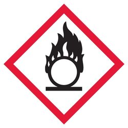 "Incom Flame Circle Pictogram Label - Size: 4"" x 4"""