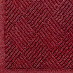 "Andersen 221 Waterhog Fashion Diamond Polypropylene Fiber Entrance Indoor/Outdoor Floor Mat, SBR Rubber Backing, 8.4' Length x 6' Width, 3/8"" Thick, Red/Black"