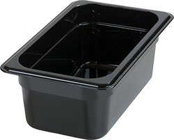 "Carlisle 3088103 StorPlus High Heat Food Pan, 4"" Deep, Quarter Size, Black"