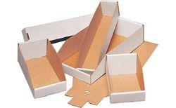 """Staples 12""""L x 3""""W x 4-1/2""""H Open Top Bin Boxes - 50/Case (BINEB123)"""