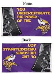 NFL Minnesota Vikings Star Wars Darth Vader Flag Deluxe, 3 x 5-Foot