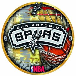 "Wincraft ""San Antonio Spurs"" NBA High Def Wall Clock - 18"""