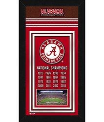 """Photo File 14"""" x 27"""" NCAA Alabama Crimson Tide Sports Photo Banner"""