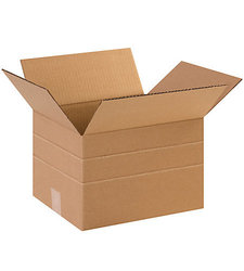 """Shoplet Select 12"""" x 10"""" x 8"""" Multi-Depth Corrugated Boxes - Pack of 25"""