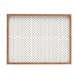 DENY Designs Allyson Johnson Tiny Polka Dots Indoor/Outdoor Rectangular Tray, 17 x 22.5