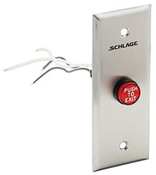 "Schlage 24VDC Narrow Stile 5/8"" Red Mushroom Pushbutton (701RD EX NS)"