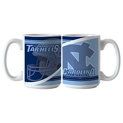 NCAA North Carolina Tar Heels Ceramic Split Mug, 15-ounce, 2-Pack