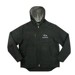 Men's NFL Baltimore Ravens Fleeced Lined Hooded Jacket - Black - Size: XL