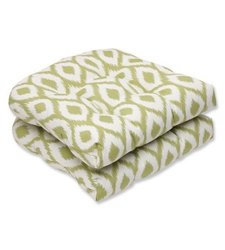 Pillow Perfect Conran Outdoor Dining Chair Cushion - Lime - Set of 2