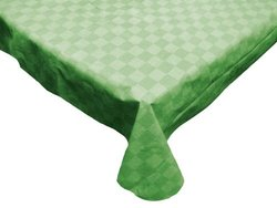 J & M Home Fashions 24-Piece Carton Vinyl Tablecloth, 52 by 70-Inch, Solid Green