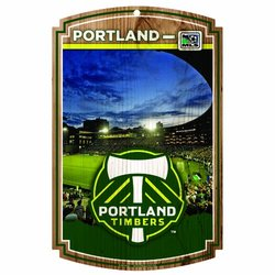 """MLS Portland Timbers  11-by-17 """"Traditional Look"""" Stadium Wood Sign"""