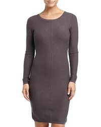 Andrew Marc New York Women's Solid Ribbed Sweater Dress - Grey - Size: XS