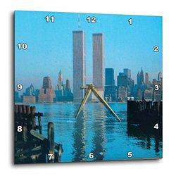 "3dRose 15""x15""Vintage Twin Towers II Wall Clock"