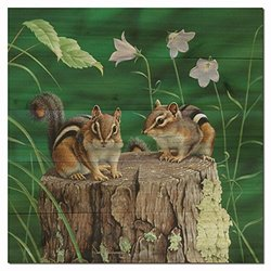 WGI-GALLERY 1212 Chipmunks Wooden Wall Art