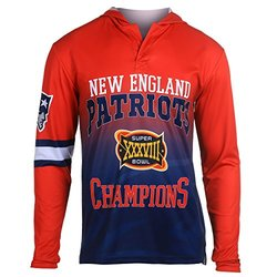 NFL New England Patriots Super Bowl XXXVIII Champions Hoody Tee, Small