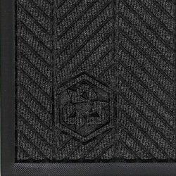 """Andersen 2240 Waterhog Eco Elite PET Polyester Fiber Indoor/Outdoor Floor Mat, SBR Rubber Backing, 6' Length x 6' Width, 3/8"""" Thick, Southern Pine"""