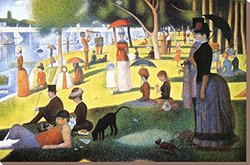 """Art.com A Sunday on La Grande Jatte 1884-86 by Georges Seurat Stretched Canvas Print, 24"""" H by 36"""" W"""