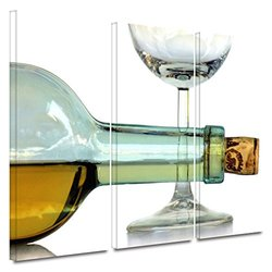 ArtWall Dan Holm 'Bottle Plus Glass' 3-Pc Gallery Wrapped Canvas Artwork