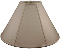 American Pride Lampshade Co. 74-78090217A Round Soft Tailored Lampshade, Shantung, Croissant