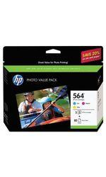 Genuine HP 564 Cyan/Magenta/Yellow Inkjet Cartridge - 3 Pk (J2X80AN)