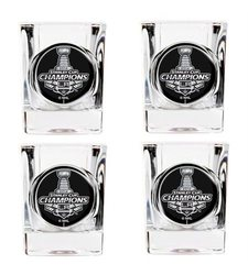 Los Angeles Kings NHL Stanley Cup Champ c Shot Glass Set 4