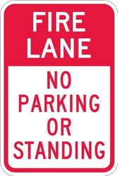 "No Parking Sign, Lyle, T1-1054-HI_12x18, 18""Hx12""W"