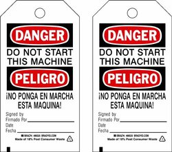Brady 86406, Accident Prevention Tags (Pack of 10 pcs)