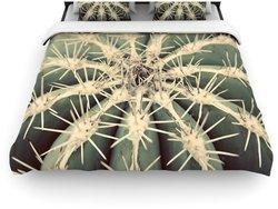 """Kess InHouse 104""""x88"""" Cactus Duvet Cover - Multi - Size: King/Cal King"""
