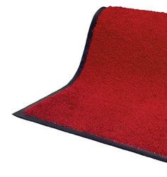 Andersen 100 TriGrip Nylon Fiber Interior Floor Mat, Non-Woven Polyester and SBR Rubber Backing, 8' Length x 4' Width, Solid Red