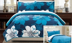 Quilt Woodhaven Set: Blue/twin (2-piece)