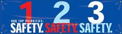 "Accuform Signs MBR951 Motivational Safety Banner 28"" L x 8-ft W"