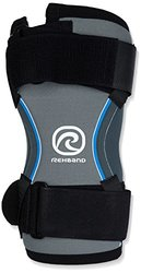 Rehband Strong Left Elbow Support - Black/Grey - Size: Large